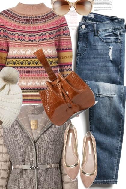 Winter Pattern Sweater- Fashion set