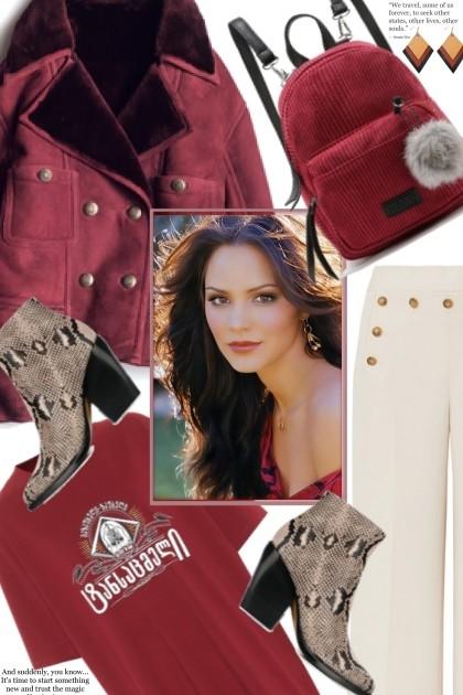 Maroon Jacket- Fashion set