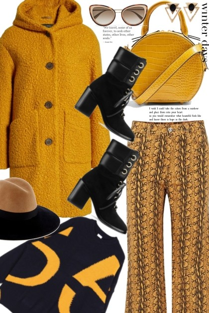 Mustard and Black- Fashion set