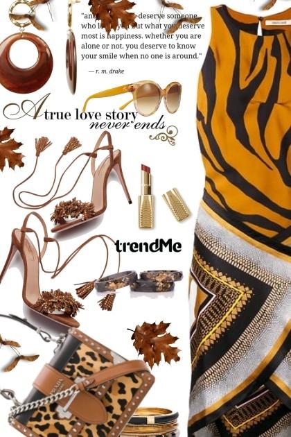 Tiger Print Dress- Fashion set