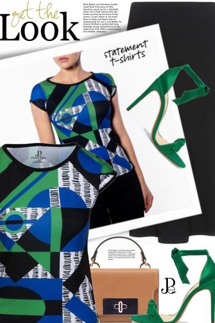 statement t-shirts- Combinazione di moda