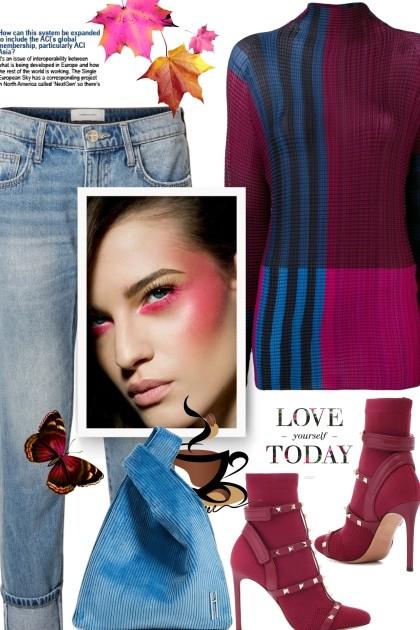 ISSEY MIYAKE colour block top - Combinazione di moda