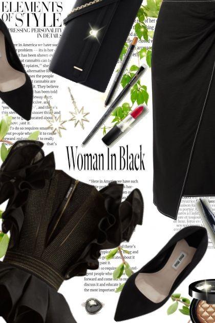 Woman in Black!- Fashion set