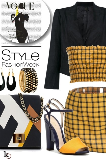 Yellow & Black on Wednesday - Fashion set
