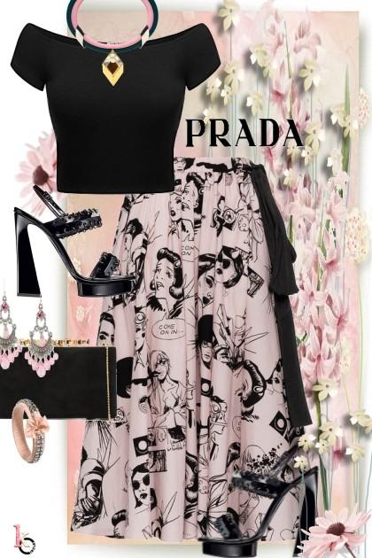 PRADA in Pink & Black . . .- combinação de moda