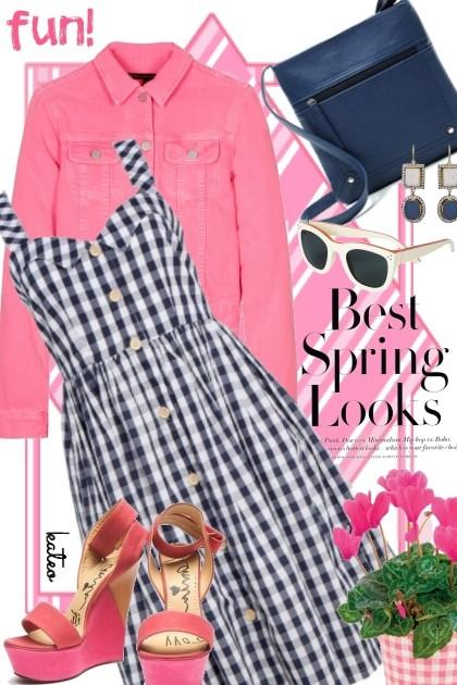 Pink & Navy in Spring  !!- Modna kombinacija