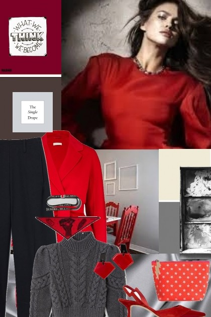 Red,Black and Grey- Fashion set