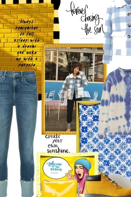 Chase away the blues with yellow- Fashion set