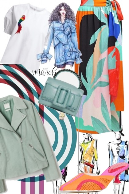 Colourful spring- Fashion set