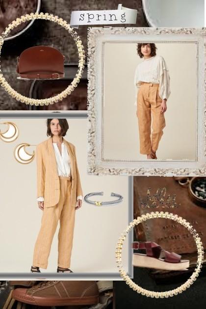 Spring trend- neutrals- Fashion set