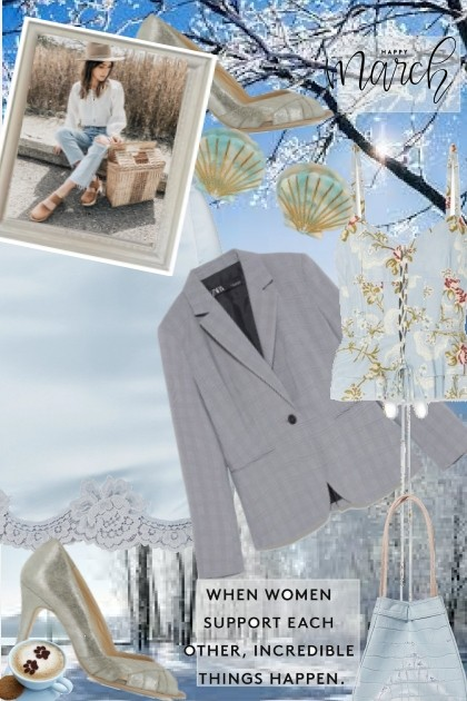 The colour of a winter sky - Fashion set