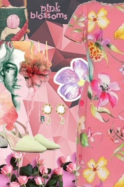 pink blossoms- Fashion set