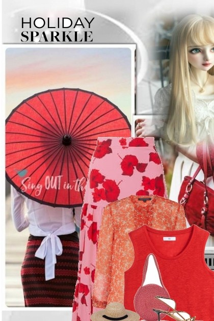 hot red summer- Fashion set