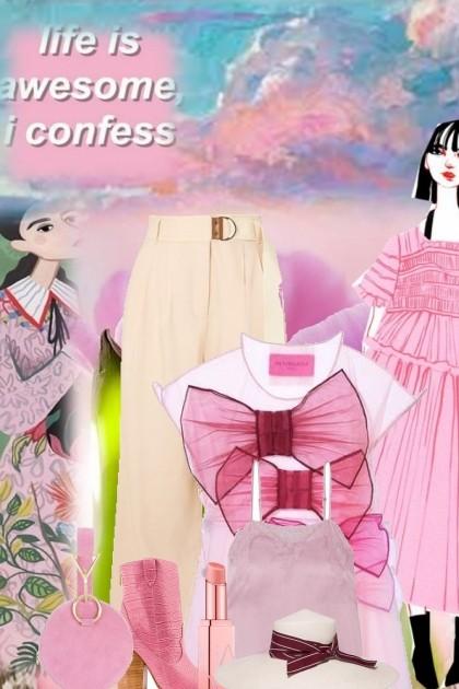 pretty in pink 4- combinação de moda