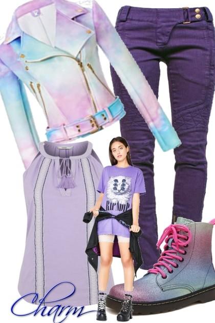 Purple Charm- Combinazione di moda