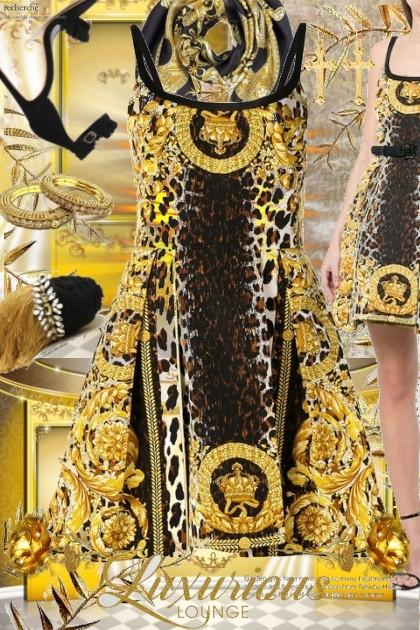 Versace dress- Modna kombinacija