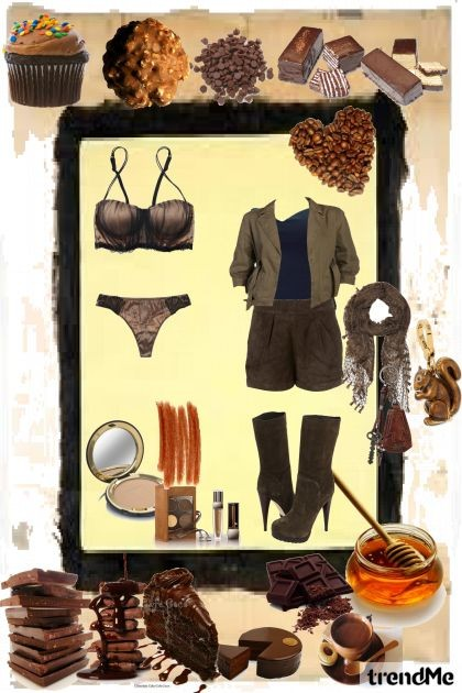 everything is chocolate- Fashion set