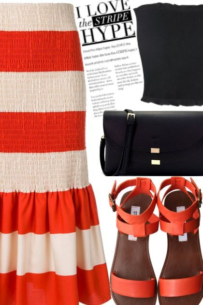 stripe hipe- Fashion set