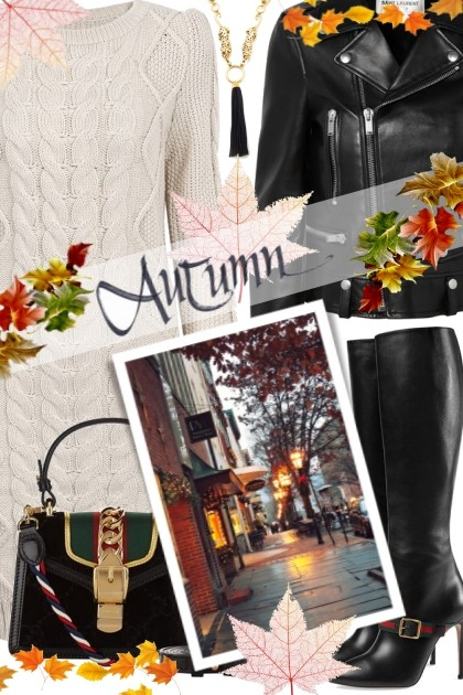 walk in the autumn evening- Fashion set