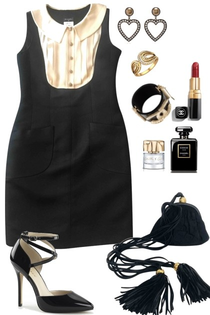 Fall Black and whites- Fashion set
