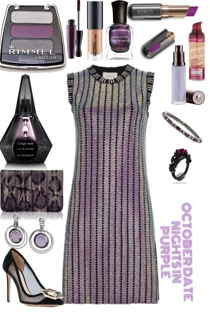 OCTOBER NIGHTS IN PURPLE GLAM - Fashion set