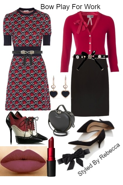 Bow Play For Work- Fashion set