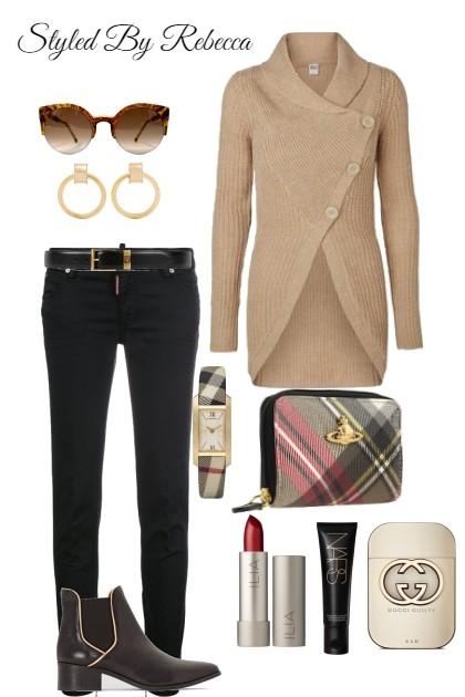 A Friday Casual Cardigan - Fashion set