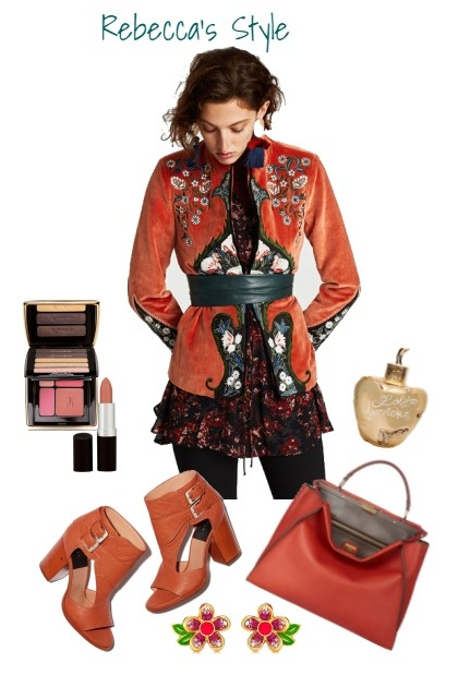 Delight in Orange- Fashion set
