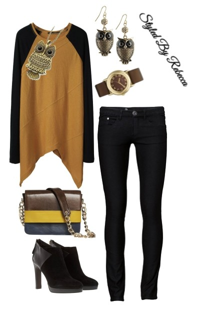 Casual Friday in Black Jeans- Fashion set