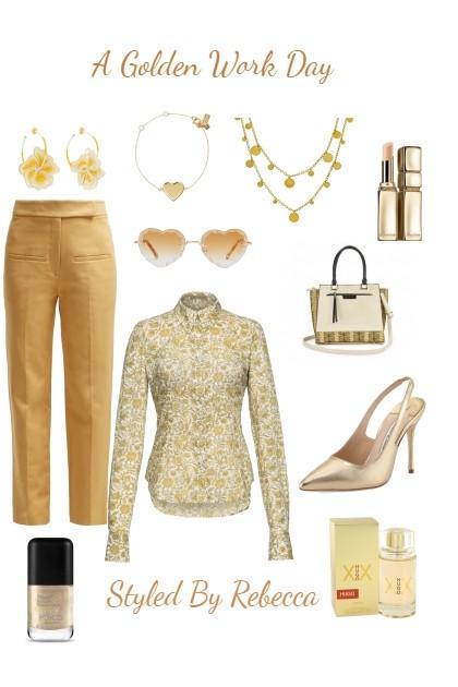 AGolden Work Day- Fashion set