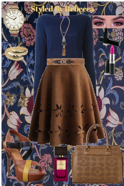 Brown Skirt Day- Fashion set