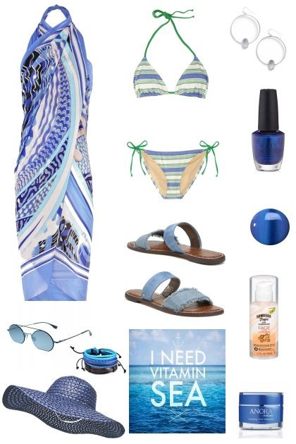I Need Vitamin Sea- Fashion set