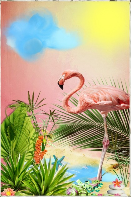 Flamingo Summer- Fashion set
