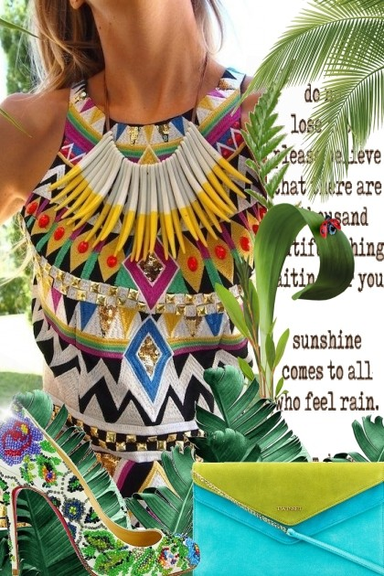 Amazing Aztec Dress- Fashion set
