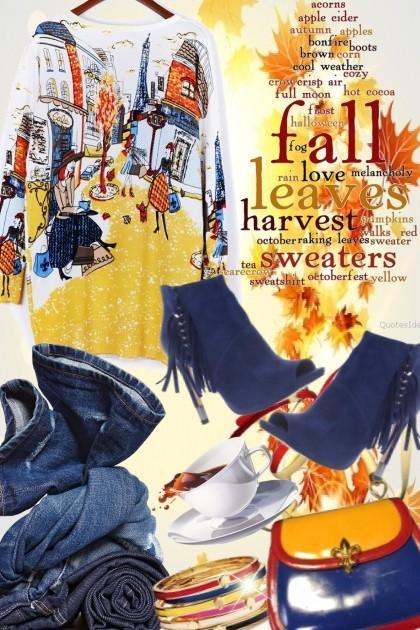 Fabulous Fall Sweater- combinação de moda