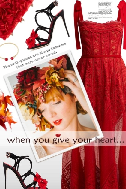 when you give your heart... <3- Fashion set