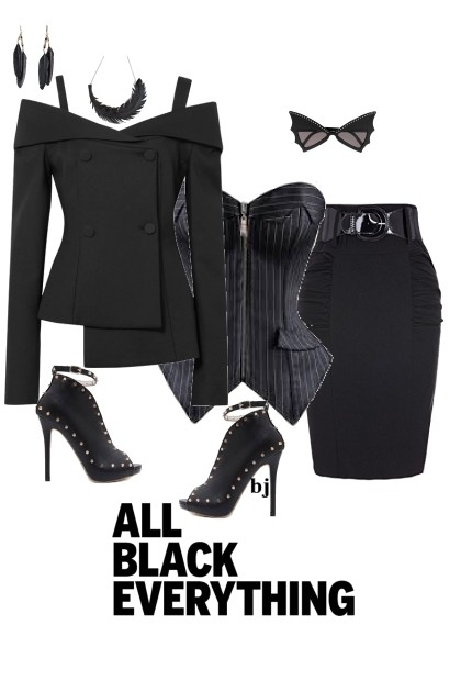 All Black Everything- combinação de moda
