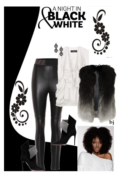 A Night in Black and White- Fashion set