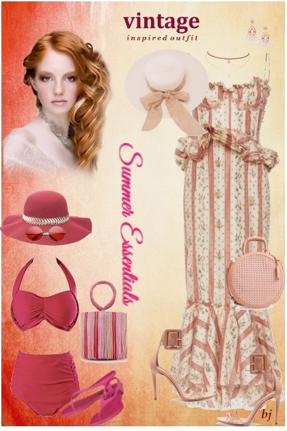 Vintage Inspired Outfit--Summer Essentials- Fashion set