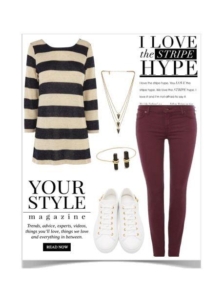 Stripe Hype- Fashion set