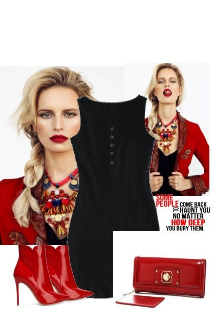 Red and black- Fashion set