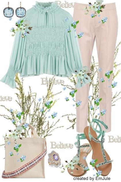 True Blue- combinação de moda