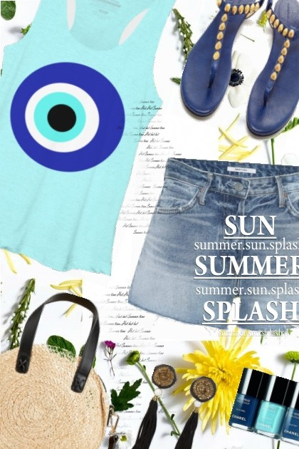 OOTD Blue Eye Tank- Fashion set