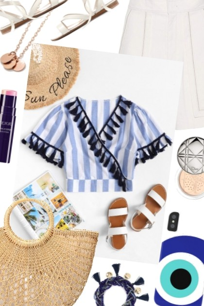 OOTD Stripes And Tassels- Fashion set