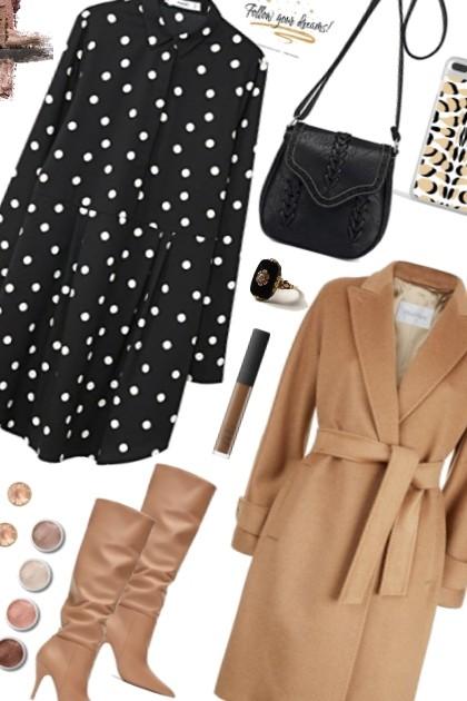 OOTD Camel coat- Fashion set