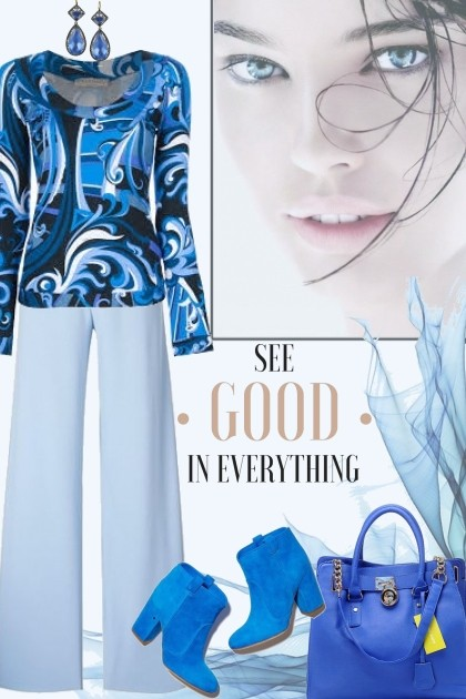 See The Good In Everything!- combinação de moda