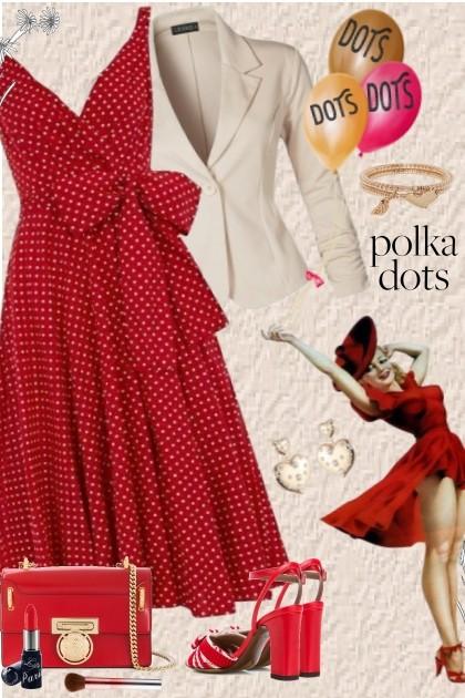 POLKA DOTS- combinação de moda