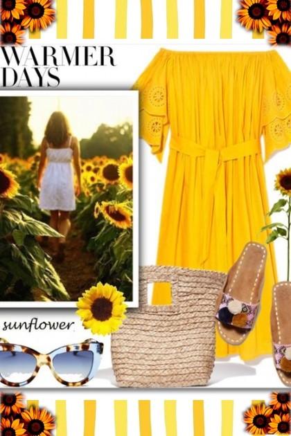 Warmer Days & Sunflowers Always- Fashion set