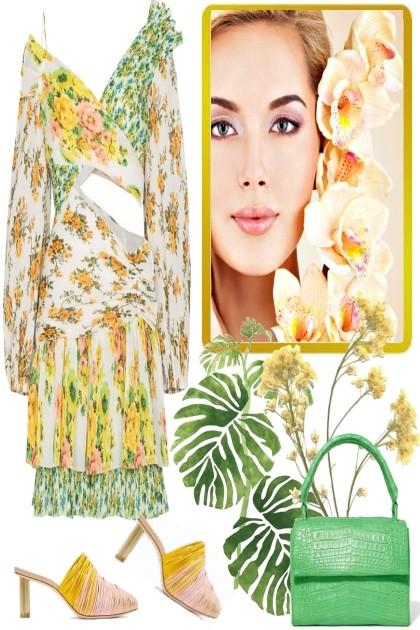 Flowerdress- Modna kombinacija