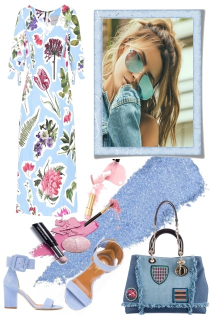 Touch of Pink for the Blues- Fashion set